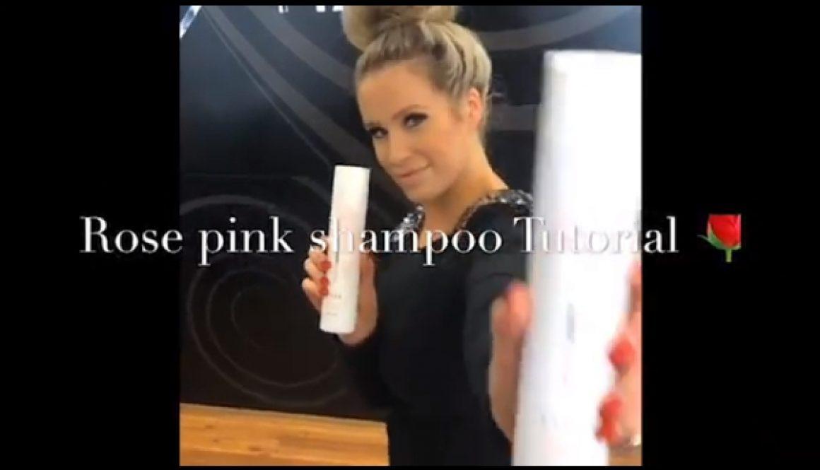 Rose Pink Shampoo Tutorial