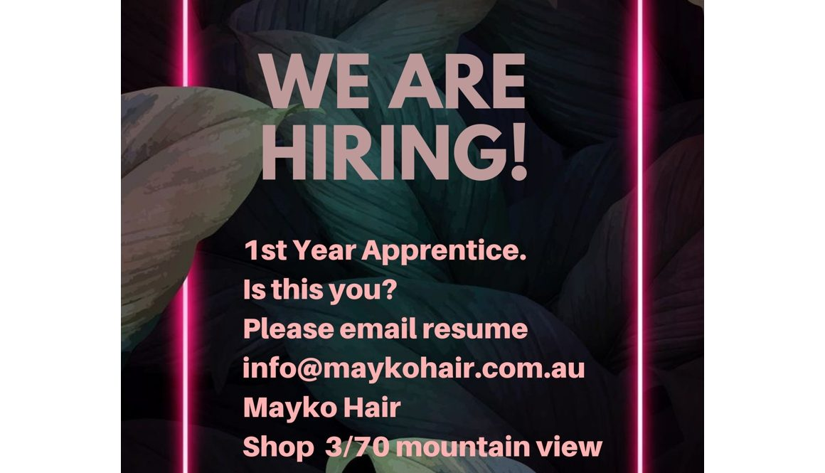 We Are Hiring 1